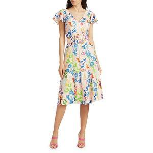 Tanya Taylor Jan Dress in pink multi floral